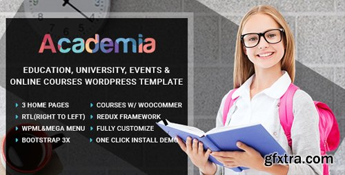 ThemeForest - Academia v2.1 - Education Center WordPress Theme - 14806196