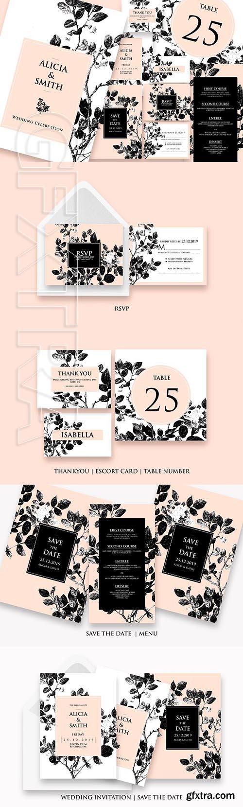 Black Pastel - Wedding Set Ac21