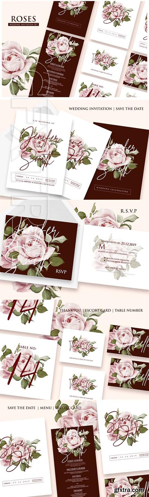Roses - Wedding Invitation Ac23