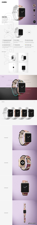 CreativeMarket - Apple Watch Leather Band Mockup Set 2737923
