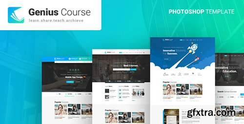 ThemeForest - Genius - Learning & Course PSD Template 21803654