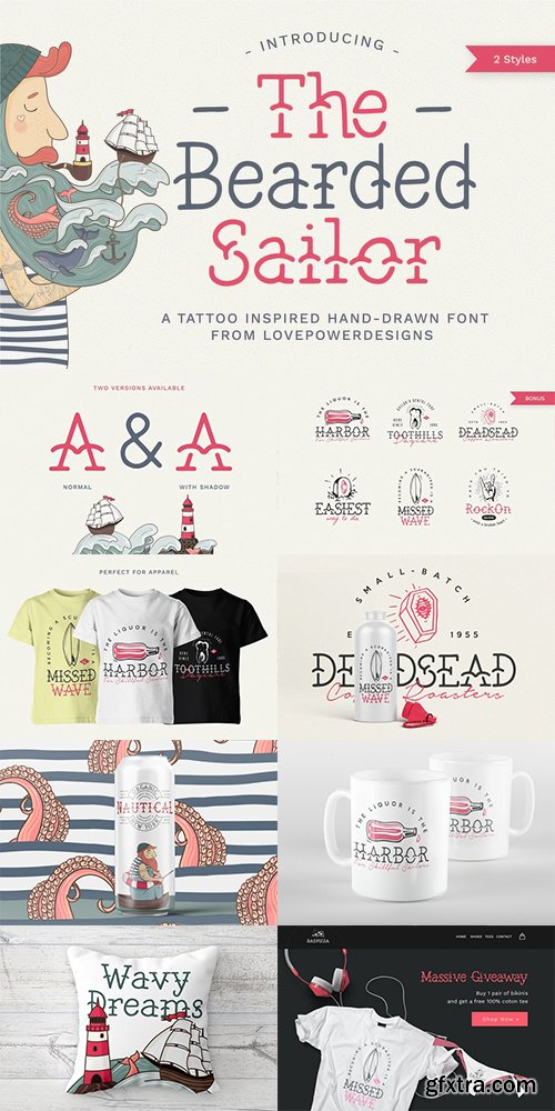 CM - The Bearded Sailor - Tattoo Font 2742624