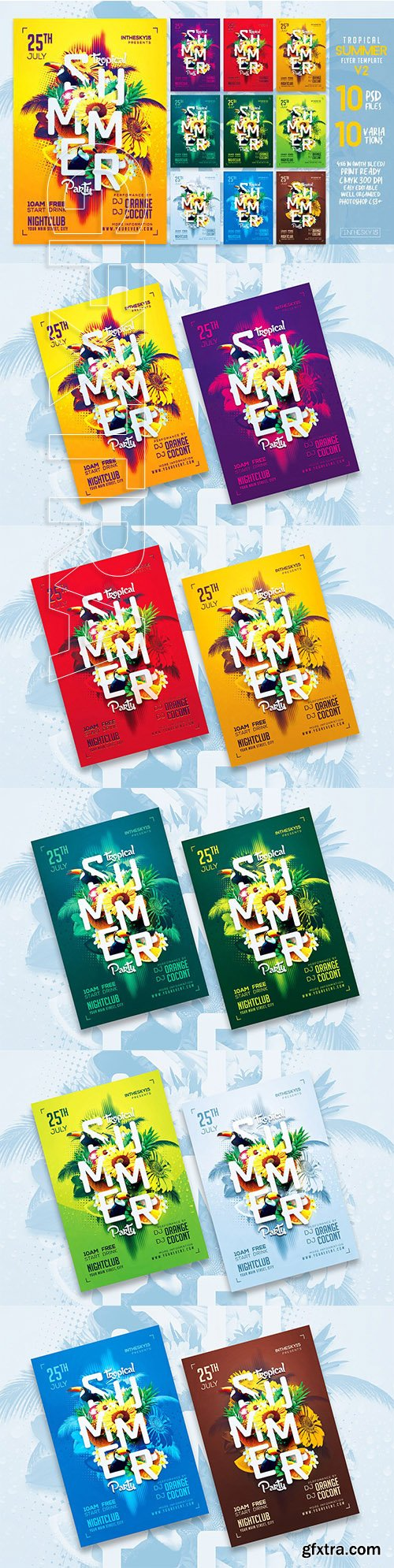 Tropical Summer V2 Flyer Template