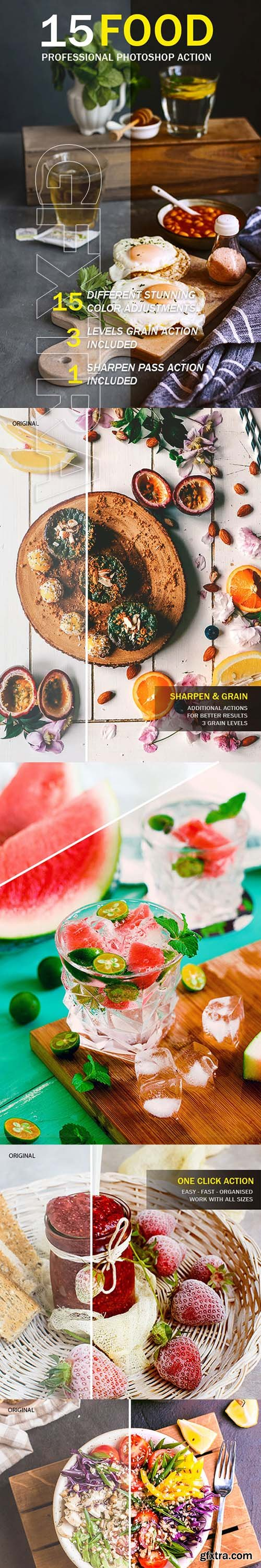 GraphicRiver - Food Photoshop Action 22196045