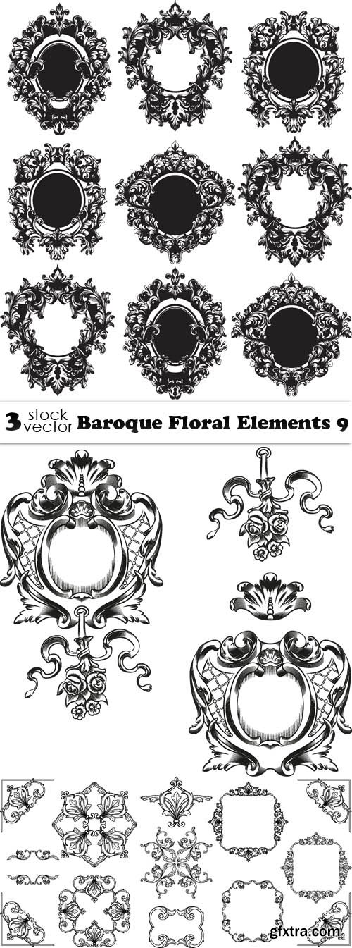 Vectors - Baroque Floral Elements 9