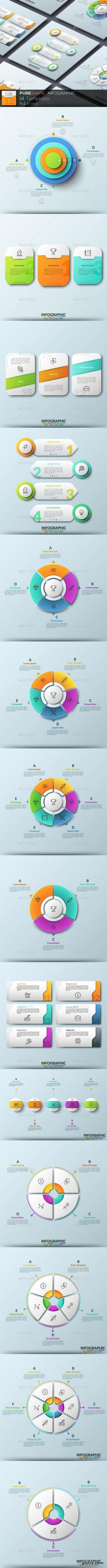 Graphicriver - Pure Shape Infographic. Set 12 20622616