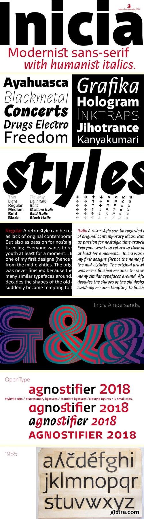 Inicia Font Family - 12 Fonts