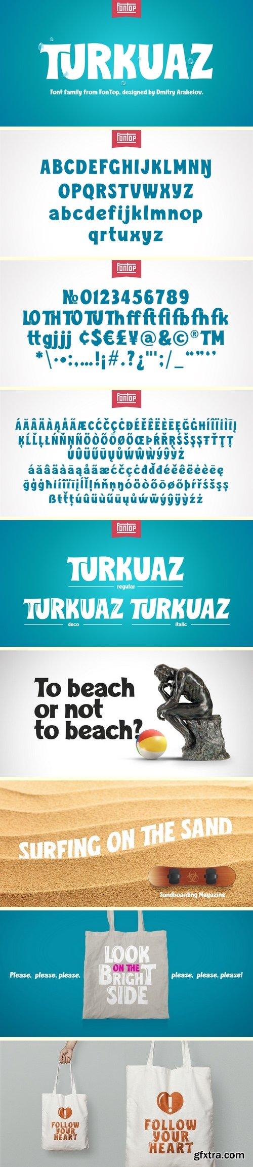 Turkuaz Font Family - 3 Fonts