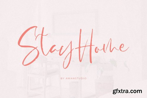 StayHome Font