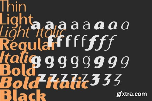 Ethna Font Family  - 8 Fonts