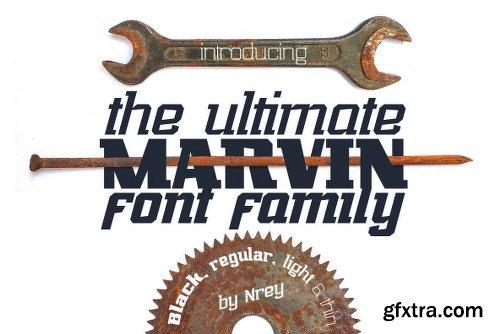 Marvin Slab Font Family  - 10 Fonts