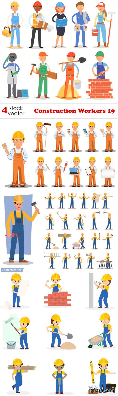 Vectors - Construction Workers 19