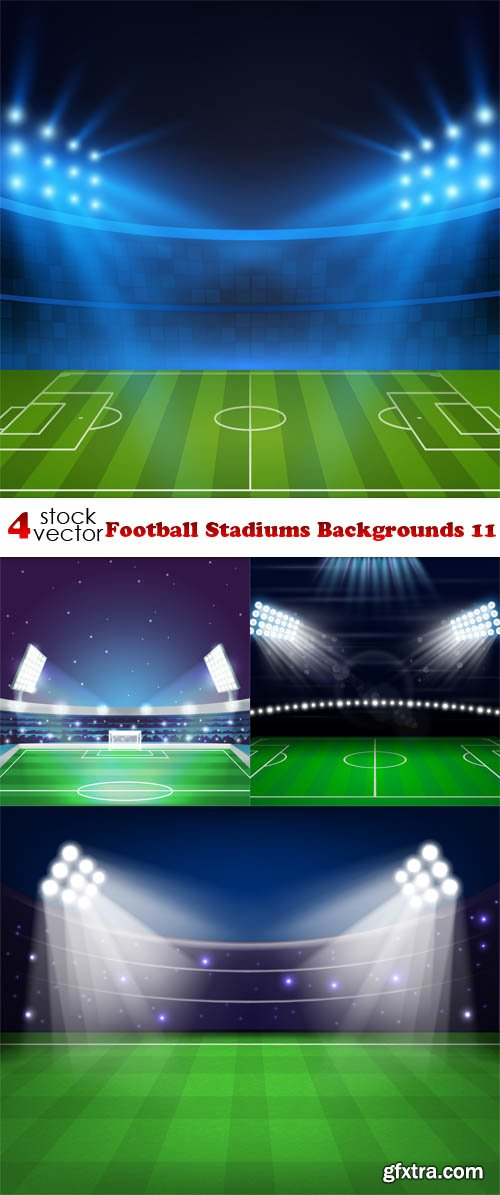 Vectors - Football Stadiums Backgrounds 11