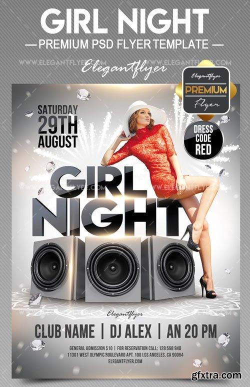 Girl Night V30 2018 Flyer PSD Template