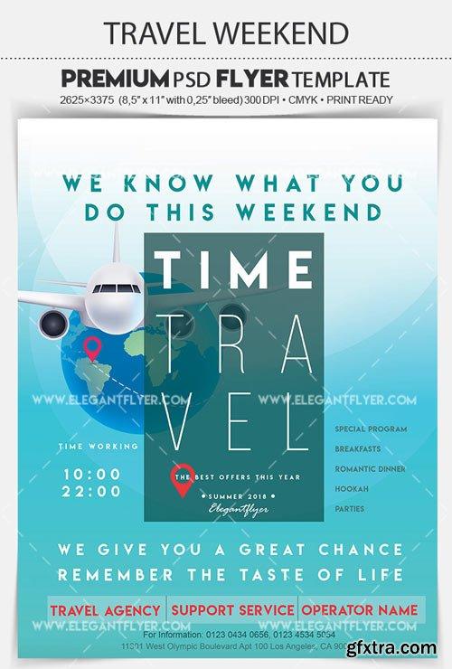 Travel Weekend V5 2018 Flyer PSD Template