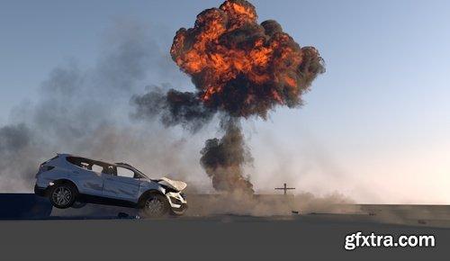 CGCircuit - Cinema4D Car Destruction Part 1