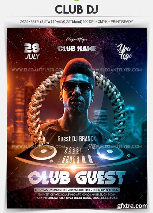 Club DJ V14 2018 Flyer PSD Template