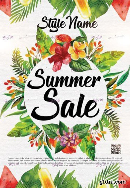 Summer Sale V19 2018 PSD Flyer Template