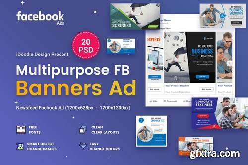Multipurpose Facebook Banner Ads - 20 PSD
