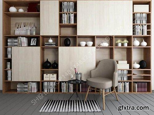 Decorative cabinet bookcase