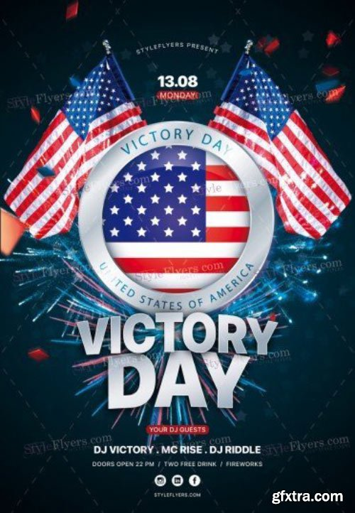 Victory Day V19 2018 PSD Flyer Template