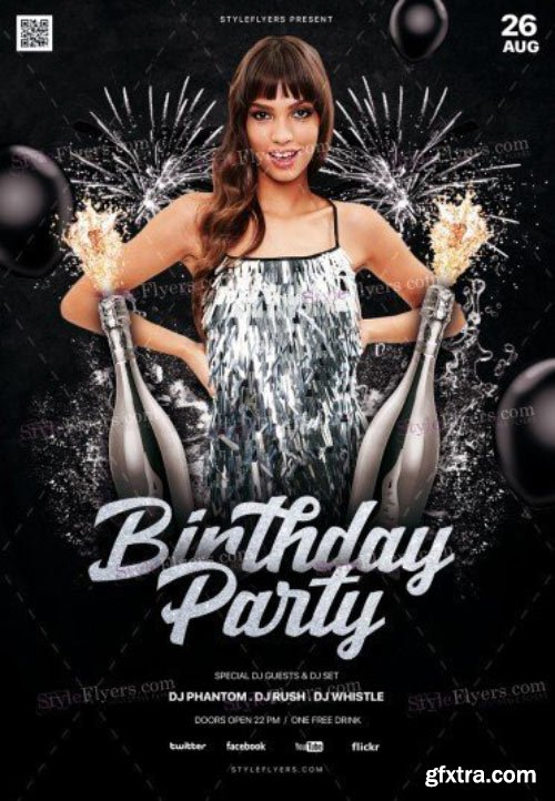 Birthday Party V23 2018 PSD Flyer Template