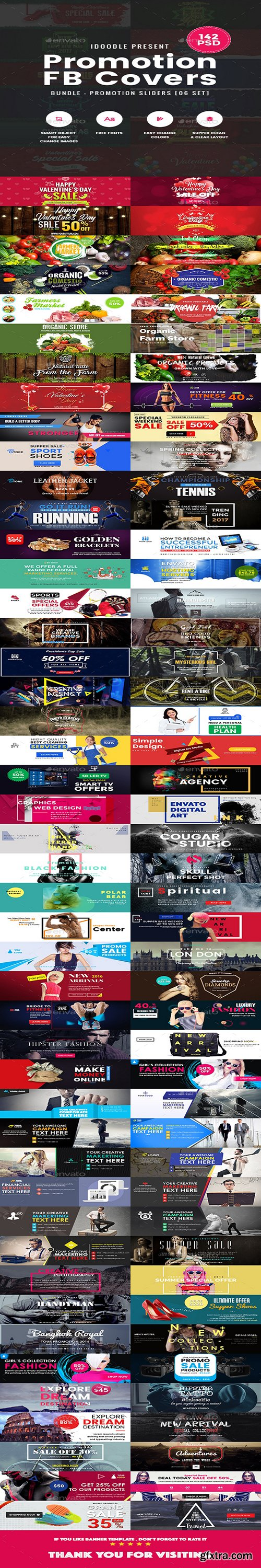 Graphicriver - Bundle Facebook Timeline Covers - 142 PSD [06 Sets] 19557957