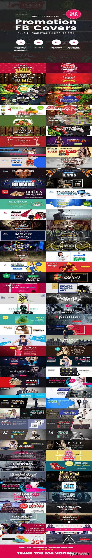 Graphicriver - Bundle Facebook Timeline Covers - 142 PSD [06 Sets] 19557957