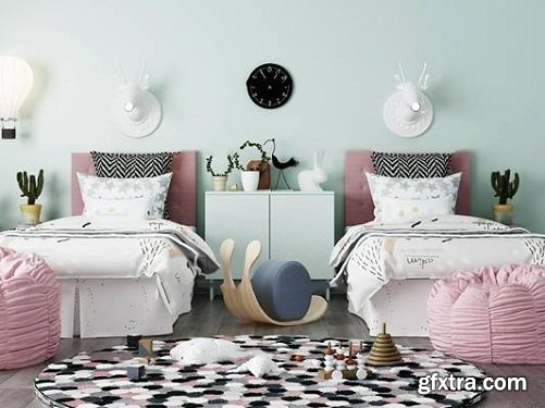 Modern Children's Bed Wall Lamp Lazy Sofa Combination