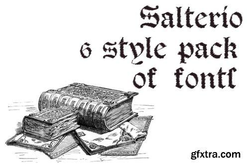 Salterio - 3 Fonts