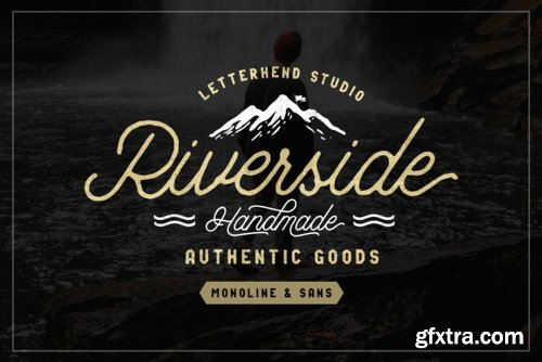 Riverside Duo - 4 Fonts