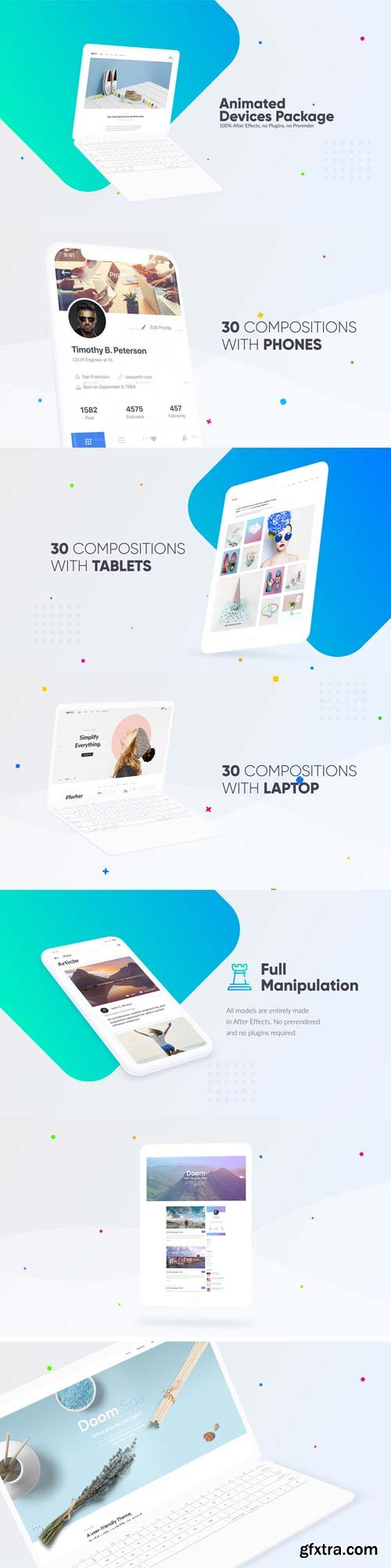Videohive - Ui Ux Animated Devices Bundle - 22023040