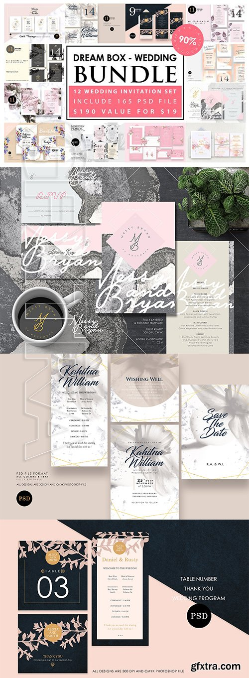 CreativeMarket - Dream Box - Wedding Bundle 2739208