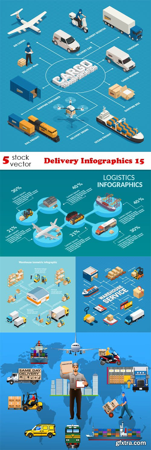 Vectors - Delivery Infographics 15