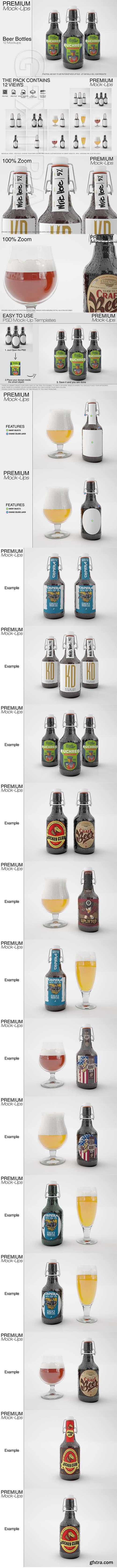 Beer Bottle Mockup Pack