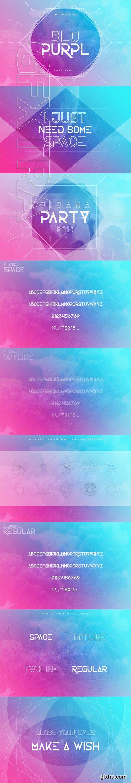 BluPurpl font family