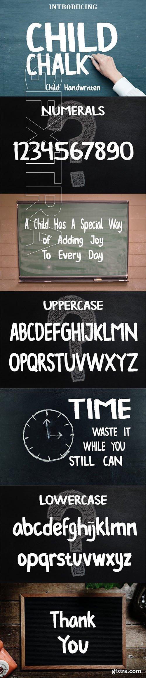 Child Chalk Font