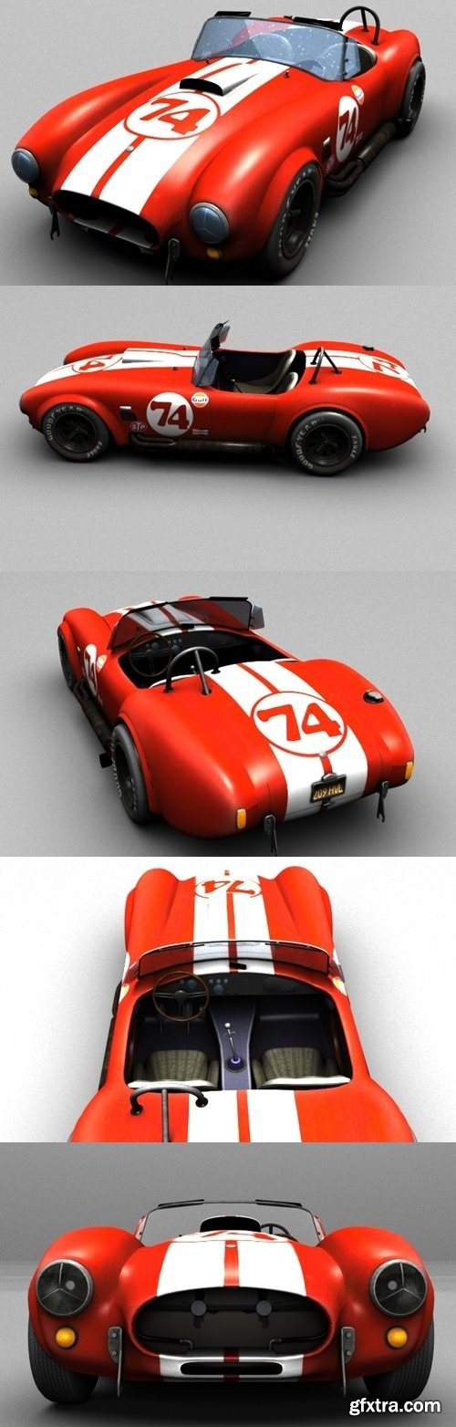 Shelby Cobra 427 1966 3D Model