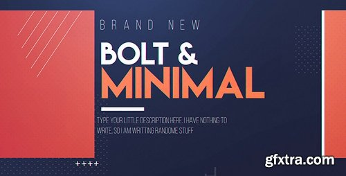 Videohive Bolt & Minimal 19589717