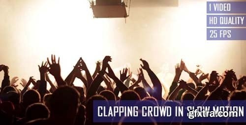 Videohive - Clapping Concert Crowd In Slow Motion - 6695990