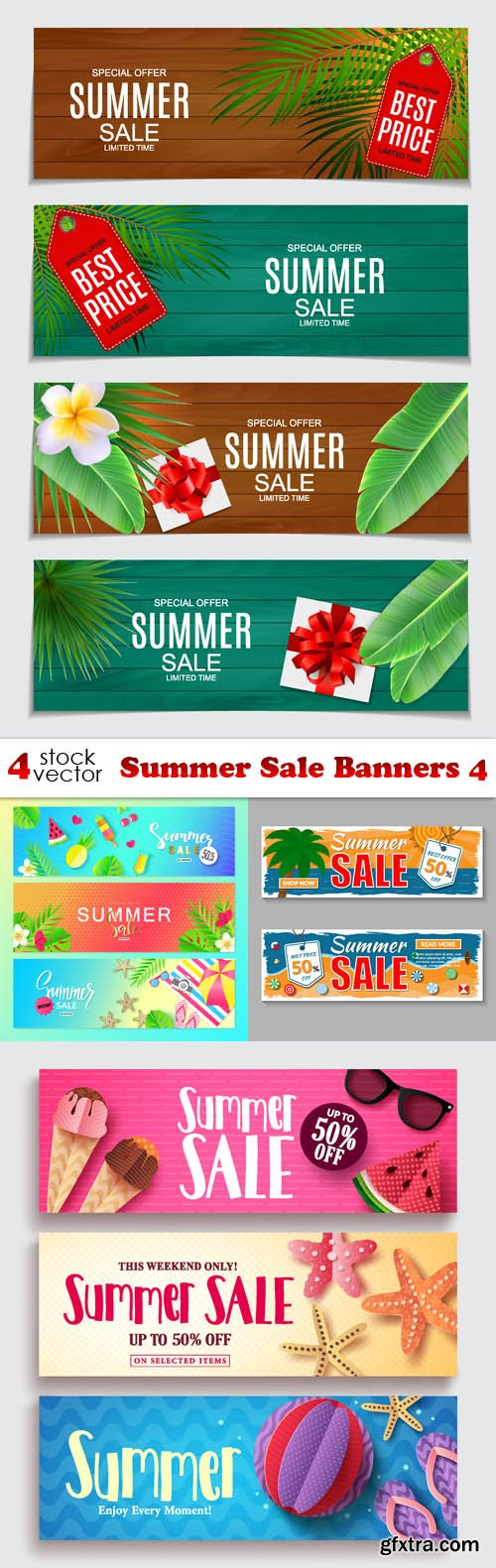 Vectors - Summer Sale Banners 4