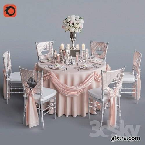 Wedding table for 6 persons 2 Corona