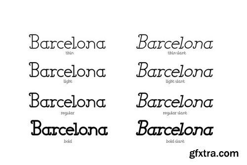 Barcelona Family - 8 Fonts