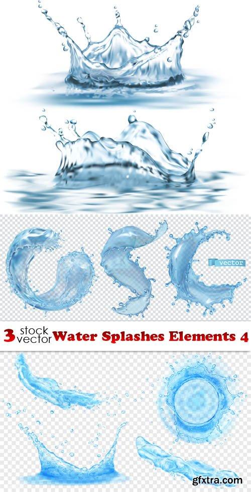 Vectors - Water Splashes Elements 4