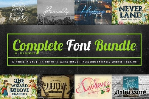 Vintage Rustic Bundle of 325+ Logos, Fonts and Photo Mockups