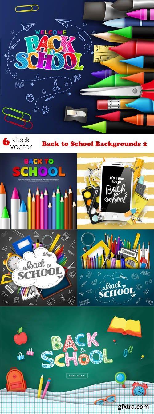 Vectors - Back to School Backgrounds 2