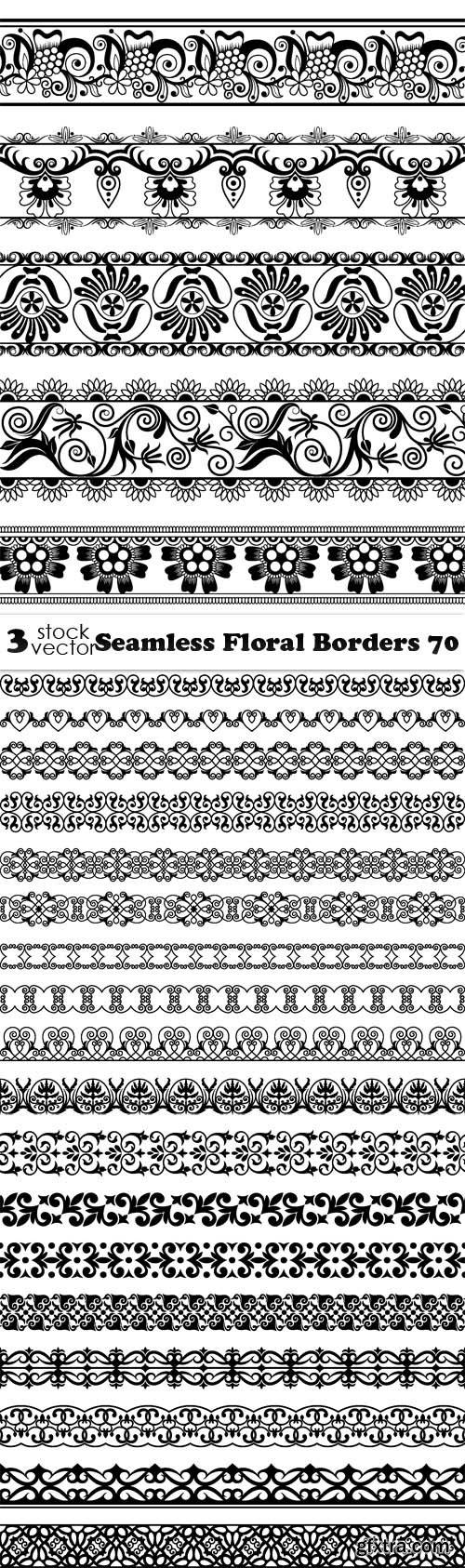Vectors - Seamless Floral Borders 70