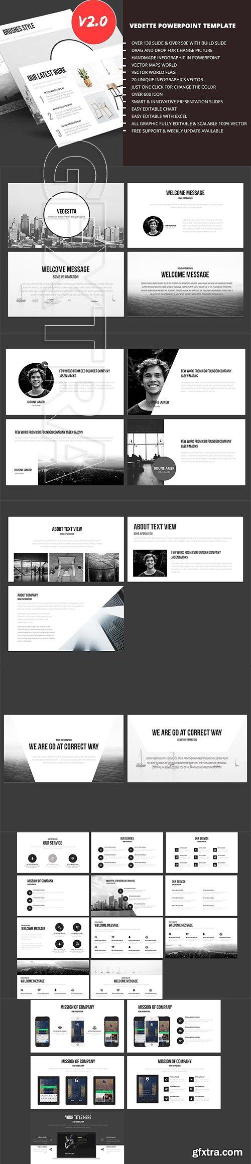 CreativeMarket - Vedette PowerPoint Template 2607357