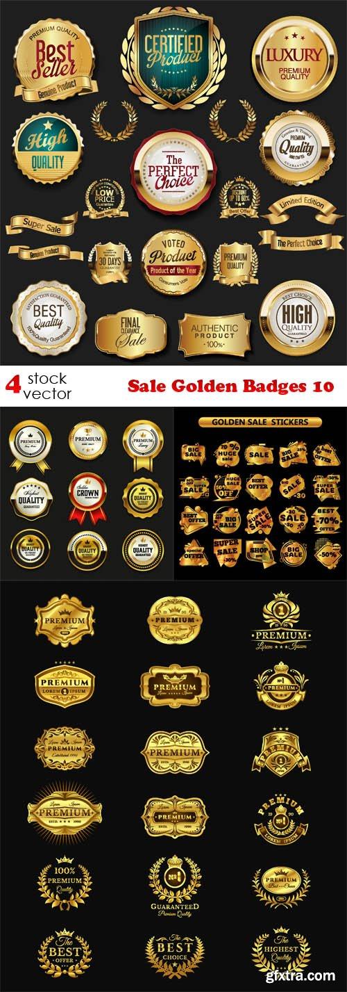 Vectors - Sale Golden Badges 10