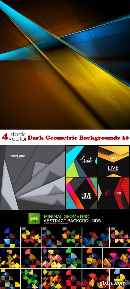 Vectors - Dark Geometric Backgrounds 30
